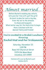 wording for bridal luncheon invitations 10 bridal luncheon invitations with envelopes free return address