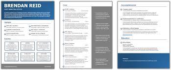 resume template u2014 brendan reid