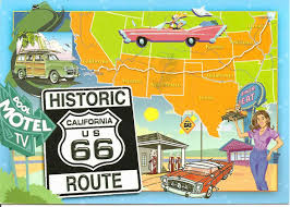 Original Route 66 Map by My Postcard Page Usa Historic Route 66