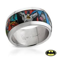 batman wedding rings batman wrap around ring tungsten wedding band ring mens womens
