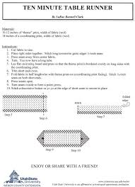 thanksgiving table runner pattern 10 minute table runner pattern stitches finally some