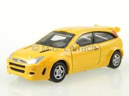 ford focus st yellow ford focus st yellow diecast model car cararama 1 72 ebay