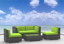 furnishing 5pc wicker outdoor sectional sofa set
