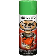 rust oleum automotive 12 oz 500 degree grabber green enamel spray
