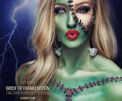 halloween corpse bride makeup bride of frankenstein sfx makeup tutorial frankenstein