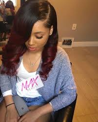 baby doll hair extensions ombre human hair extensions 3 bundles best black to burgundy