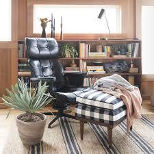 Plaid Chair And Ottoman by Jack Ottoman Windowpane Plaid Schoolhouse Electric