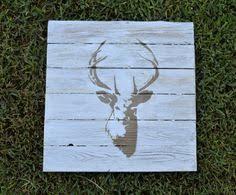 deer wood wall 22 deer wood wall hanging deer stencil by reclaimedwoodnart