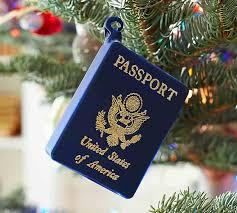 passport ornament pottery barn