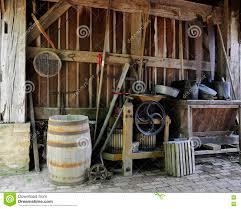 The Tool Barn Old Barn Tools Stock Photo Image 72274158