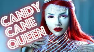 candy cane queen makeup tutorial youtube