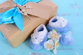 baby shower its a boy natural wrap gift with gift box baby