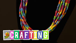 Halloween Duct Tape Crafts How To Craft A Duct Tape Beaded Necklace Youtube