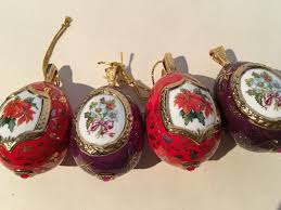 egg ornaments 4 24k gilt decorative eggs porcelain christmas ornaments house of