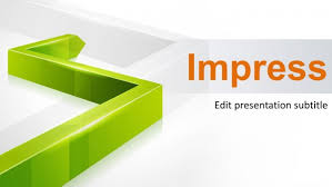 3d green line powerpoint template powerpoint templates