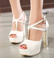cross chunky heel rhinestone wedding shoes women high