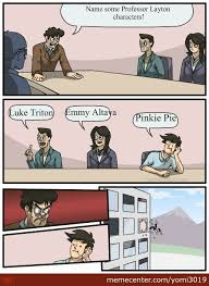 Professor Layton Meme - professor layton board meeting by yomi3019 meme center