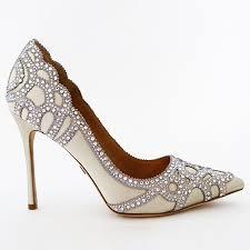 wedding shoes ivory badgley mischka wedding shoes ivory pumps trim