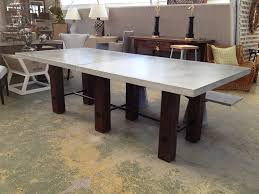 concrete and wood dining table thick concrete top dining table mecox gardens dennis futures