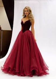 gorgeous wine long a line tulle prom dress sweetheart prom gown