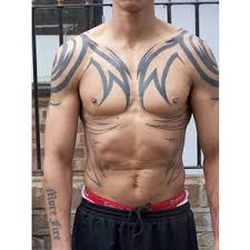 tribal chest tattoo ideas for men toycyte polyvore