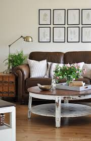 pictures of living rooms with leather furniture living room mini makeover and photo shoot the painted hive
