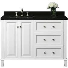 48 Bathroom Vanity With Granite Top Hannah White 48