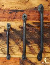 Vintage Sliding Barn Door Hardware by Hand Wrought Iron Door Pull These Handles Are Made By Hand By