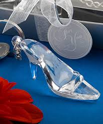 glass slipper party favor cinderella glass slipper shoe keychain favor