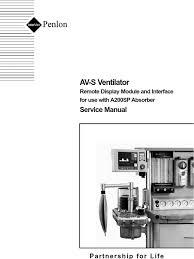 penlon av s ventilator service manual monitoring medicine