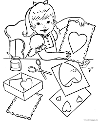 paper heart valentine s03b6 coloring pages printable
