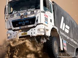rally truck racing man versus nature 2010 dakar rally support diesel power magazine