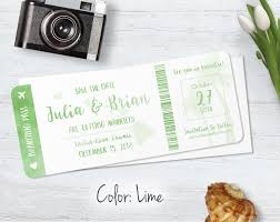 boarding pass save the date destination wedding save the dates blue weddings