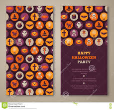 scary halloween party invitations halloween party invitation with holiday flat icons in circles