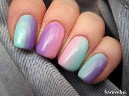 pastel ombre soak off nails jak zrobic ombre na paznokciach