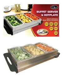 3 station food warmer u0026 buffet serving tray stainless steel mini
