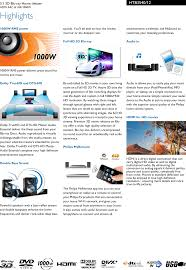 5 1 3d Blu Ray Home Theater Htb3540 94 Philips - philips htb3540 12 5 1 3d blu ray home theater user manual leaflet