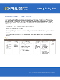 healthy eating planner template 7 days diet chart 5 free templates in pdf word excel download 7 days diet plan sample chart