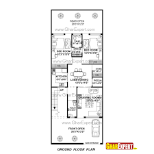 Home Design 70 Gaj by House Plan For 27 Feet By 70 Feet Plot Plot Size 210 Square Yards