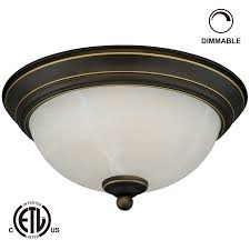 Ceiling Lighting Fixtures by 11 Inch Dimmable Led Flush Mount Ceiling Light Torchstar