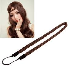 braid hairband women synthetic hair band plaited plait elastic bohemia braids