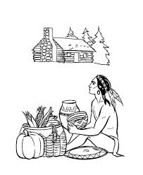 barter native american thanksgiving coloring