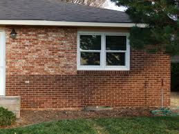 Painting A Wall To Look Like Brick The Color Of Your Brick Try Staining It I Stained The Front