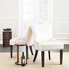 Safavieh Dining Chair Amazon Com Safavieh Mercer Collection Felix Beige Polyester
