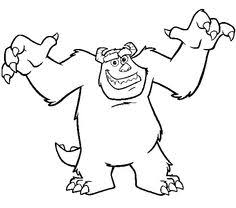 sully monsters coloring pages disney sg