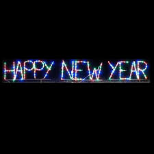 led new years lighted outdoor decorations lighted signs happy new year