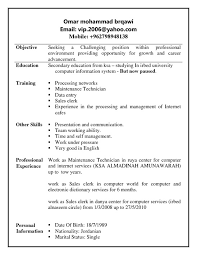 Resume Other Skills Examples by Best Restaurant Resume Objective Examples For Retail Sales