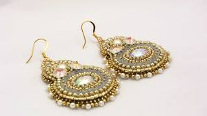 Crystal Chandelier Earrings Beadfeast Beadfeast Home Of Handmade Bead Embroidered Jewelry Gold Sparkly