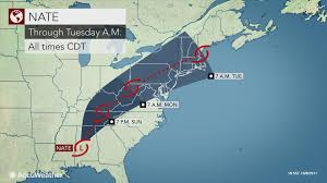 Where Is Destin Florida On The Map Nate To Spread Heavy Rain Across Southern Us To Ohio Valley Into