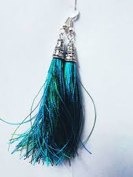 feather earrings online india shopo in buy silk thread tassel earrings online at best price in